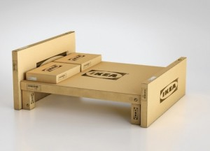 IKEA Bed Made of Boxes