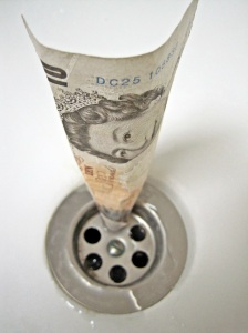 Money Going Down the Drain 5857953208_a827a325c8_o
